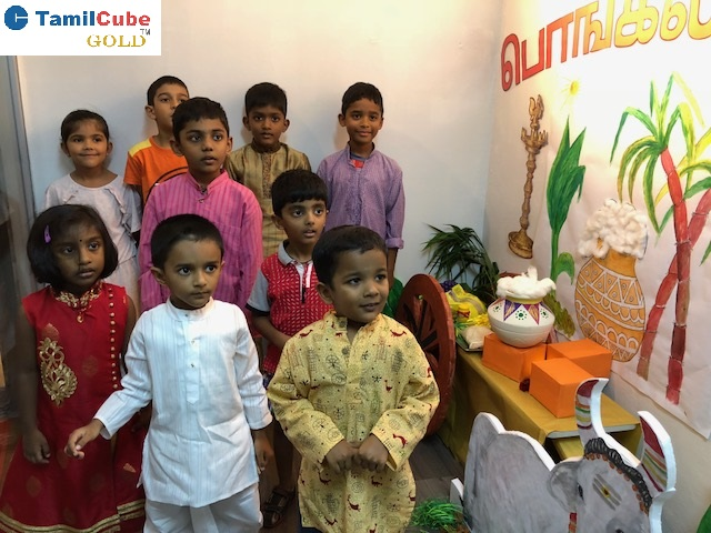 K1, K2 & Primary 1 Kids Celebrating Pongal festival