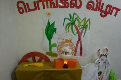 Pongal festival Celebration preparation art work